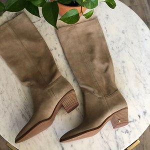 Sam Edelman Suede Nude Rowena Knee High Boot 9.5
